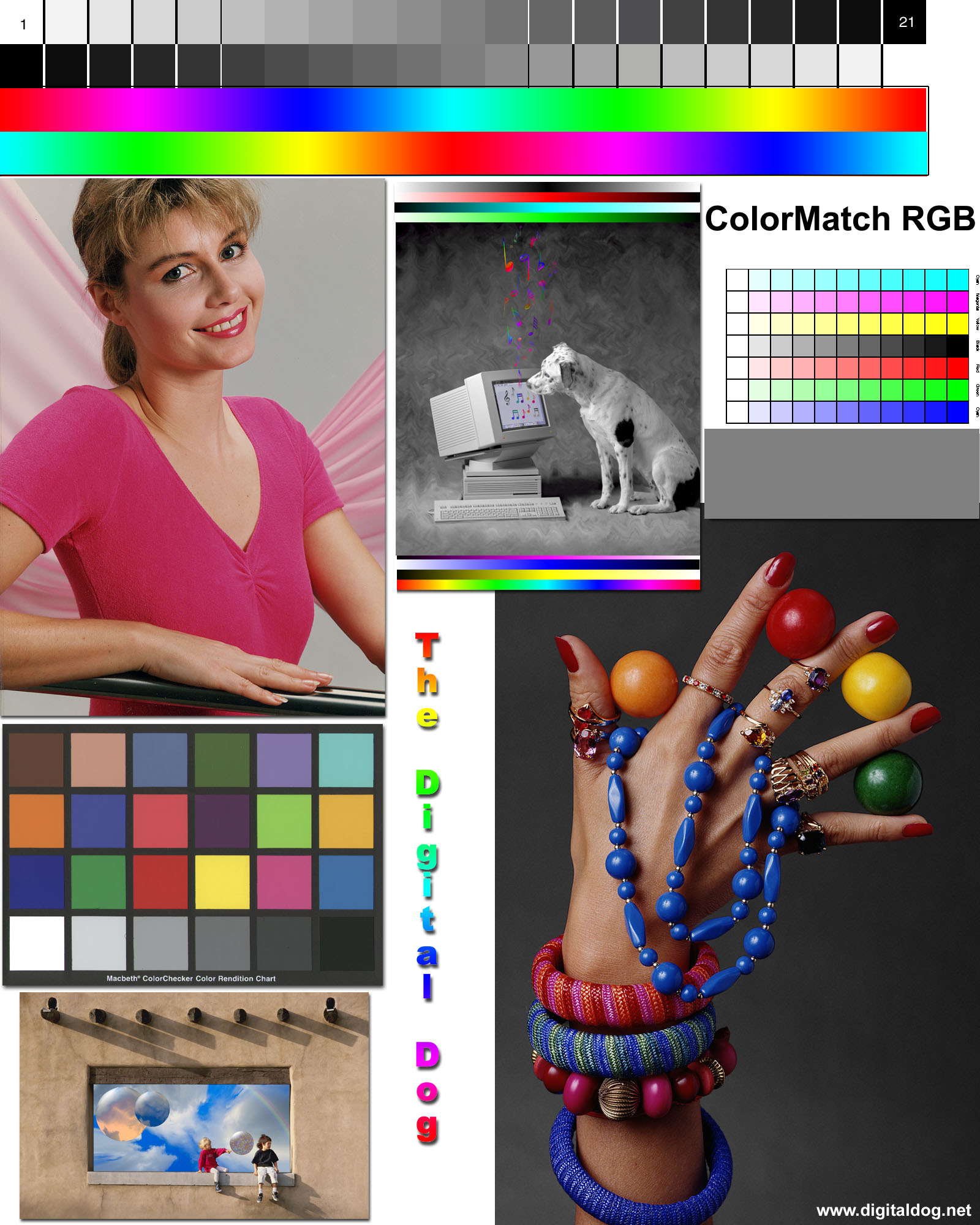 Monitor calibration for Color printer test page
